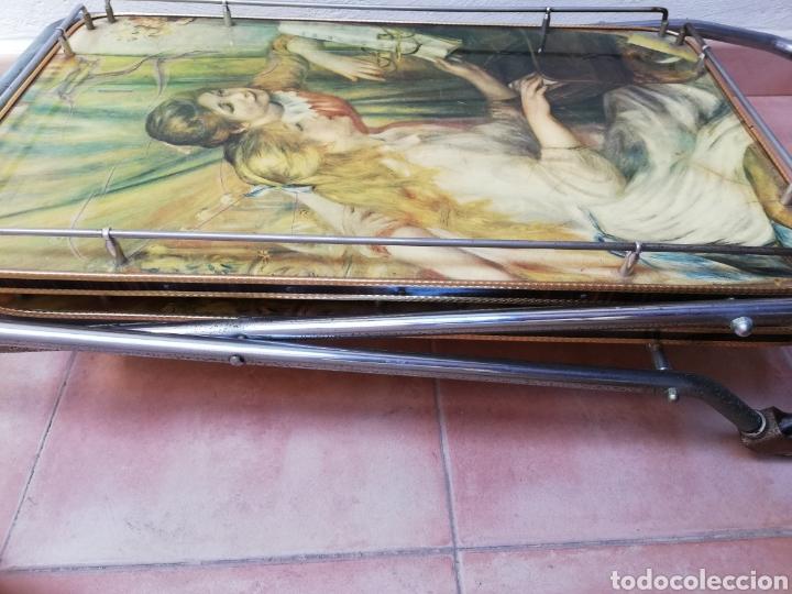 Vintage: MESA CAMARERA. CARRITO.AUXILIAR. METAL Y FORMICA. PLEGABLE. ORIGINAL - Foto 12 - 170892664