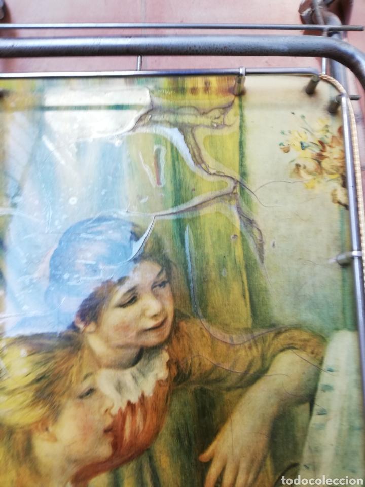Vintage: MESA CAMARERA. CARRITO.AUXILIAR. METAL Y FORMICA. PLEGABLE. ORIGINAL - Foto 14 - 170892664
