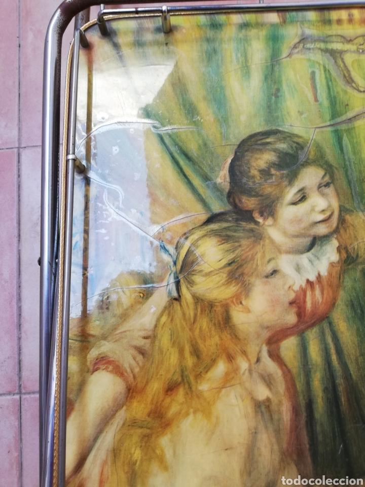 Vintage: MESA CAMARERA. CARRITO.AUXILIAR. METAL Y FORMICA. PLEGABLE. ORIGINAL - Foto 16 - 170892664