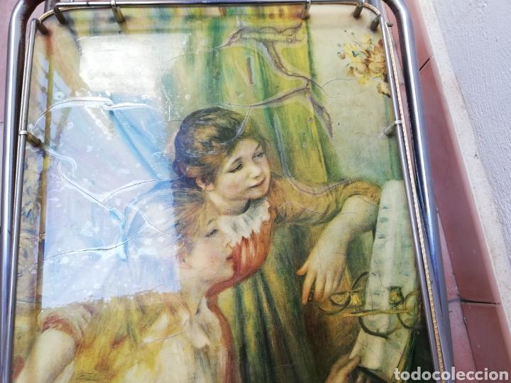 Vintage: MESA CAMARERA. CARRITO.AUXILIAR. METAL Y FORMICA. PLEGABLE. ORIGINAL - Foto 18 - 170892664