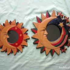 Vintage: 2 ESPEJOS SOL Y LUNA.. Lote 171235872