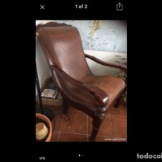 Vintage: SILLA CUERO, LEATHER CHAIR. Lote 171526454