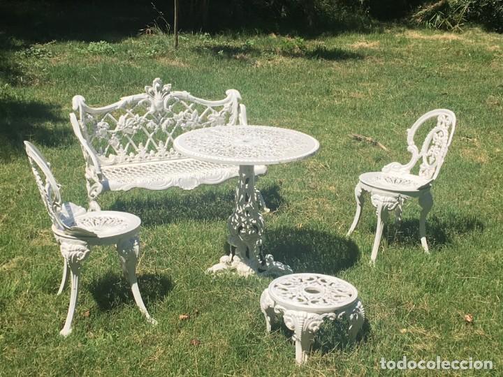 Muebles De Jardin En.Muebles De Jardin En Hierro Mesa Con Banco D Sold