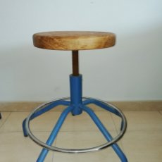 Vintage: TABURETE INDUSTRIAL HIERRO. Lote 171968025