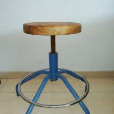 Vintage: TABURETE INDUSTRIAL HIERRO. Lote 171968274