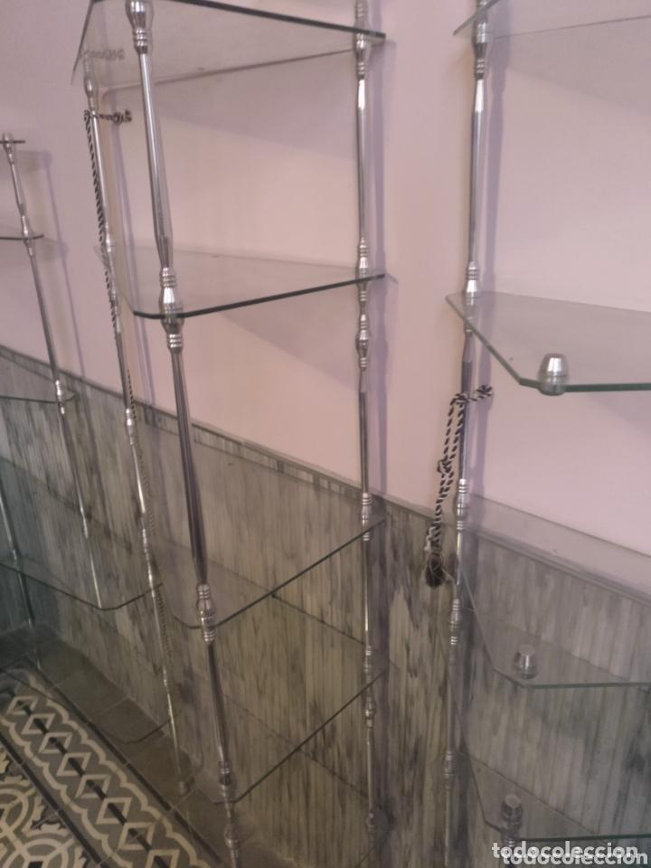 Vintage: Estantería modular de cristal y aluminio desmontable. 300 x 175cm (parte más alta) - Foto 3 - 172296333