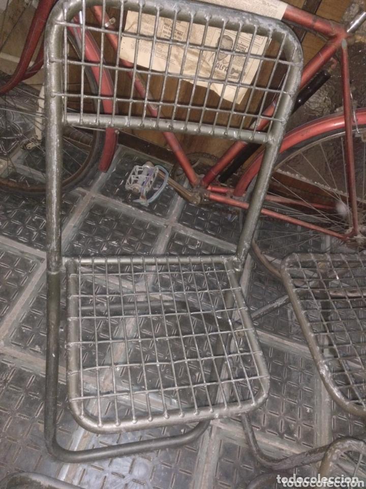 Vintage: Lote sillas militares industriales hierro - Foto 4 - 252279330