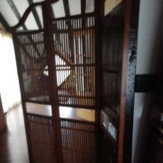 Vintage: BIOMBOS DE MADERA, 2 UNIDADES. Lote 174068437