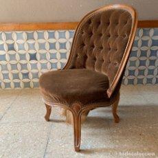Vintage: SILLON DESCALZADOR, SIN CARCOMA, ESTILO MARIA ANTONIETA, ESTA PARA CAMBIAR CINCHAS. Lote 174265535