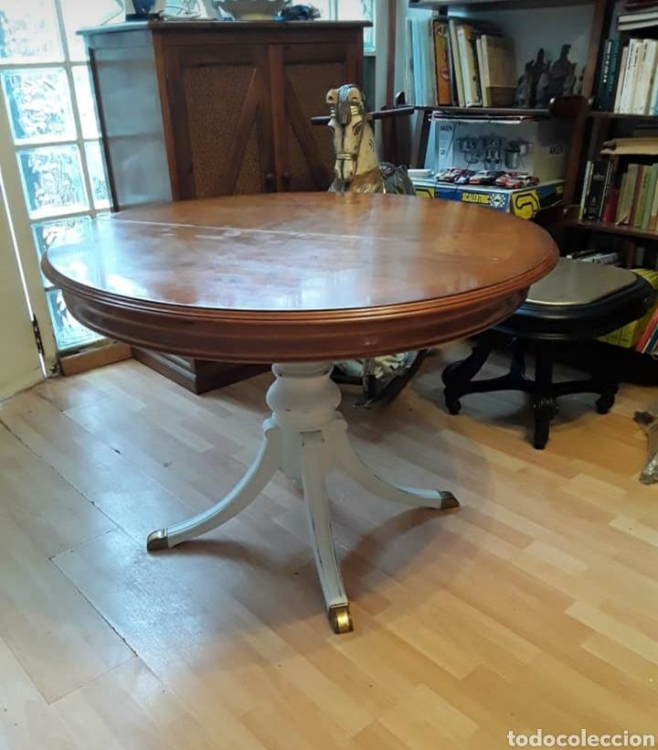 Mesa de comedor extensible vintage restaurada