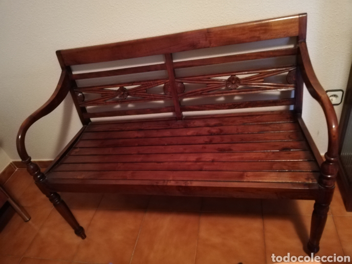 Vintage: Banco Asiático de madera (Recoger en tienda) - Foto 3 - 175263808