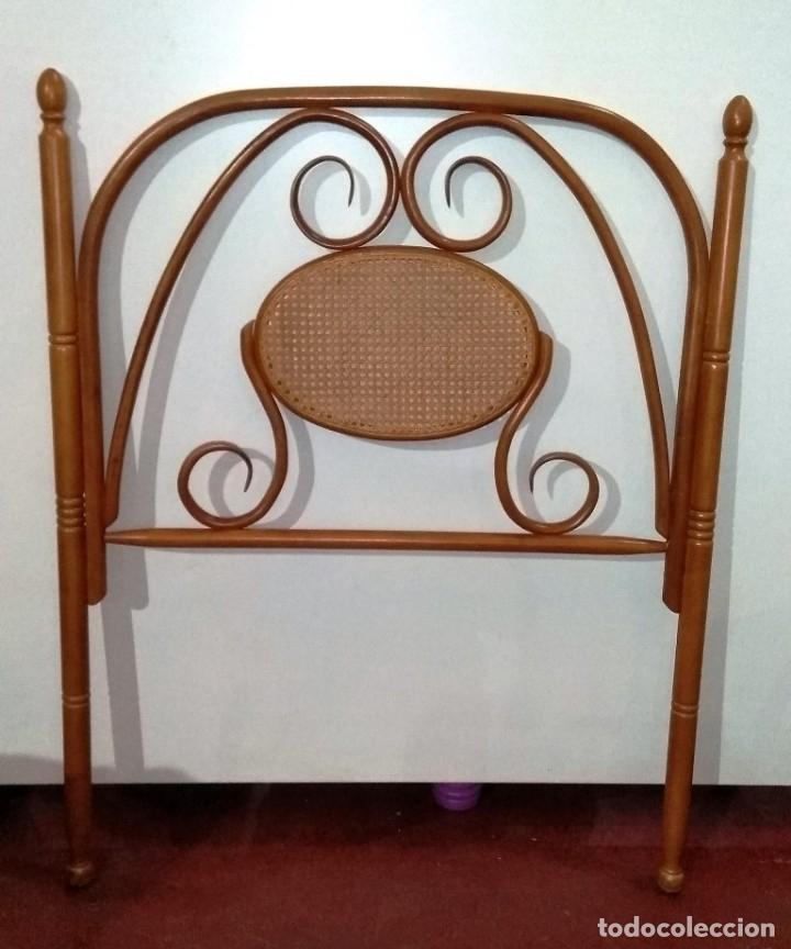 CABECERO DE CAMA ESTILO THONET EN HAYA (Vintage - Muebles)