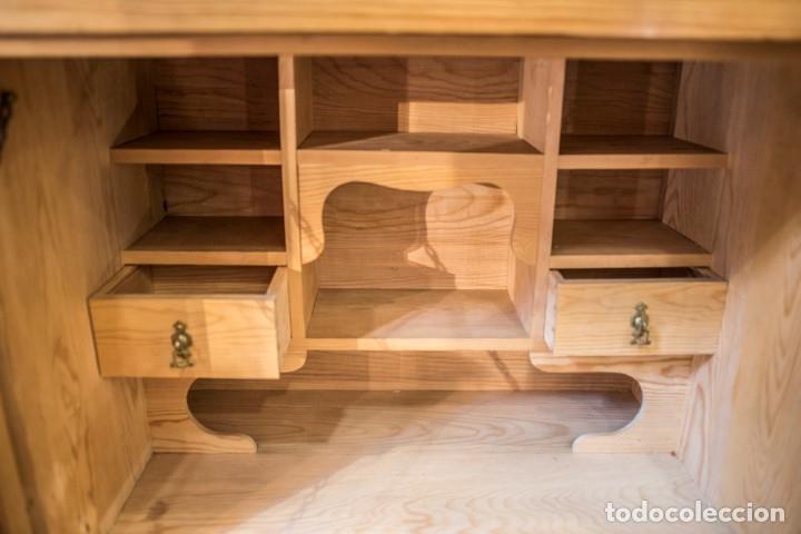 Vintage: Secrétaire à abattant en madera de pino, principios de siglo- estilo Art Nouveau, Francia - Foto 4 - 176341634
