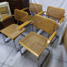 Vintage: SILLA CESCA. LOTE DE 4 SILLAS MODELO CESCA B64. Lote 177793300
