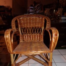 Vintage: SILLA BAMBU MIMBRE. Lote 194638516