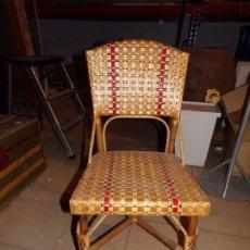 Vintage: SILLA BAMBU MIMBRE. Lote 177940384