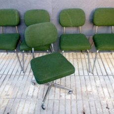 Vintage: 5 SILLAS DE OFICINA,UNA DE ELLAS REGULABLE EN ALTURA. Lote 178068637