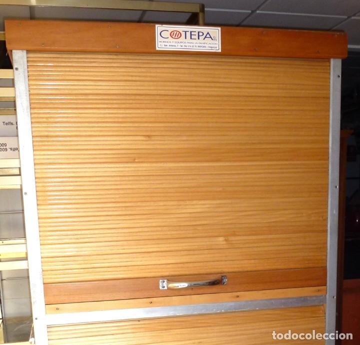 Vintage: Mueble industrial de panaderia con persiana. - Foto 3 - 178115059