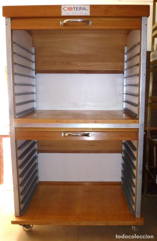 Vintage: Mueble industrial de panaderia con persiana. - Foto 4 - 178115059