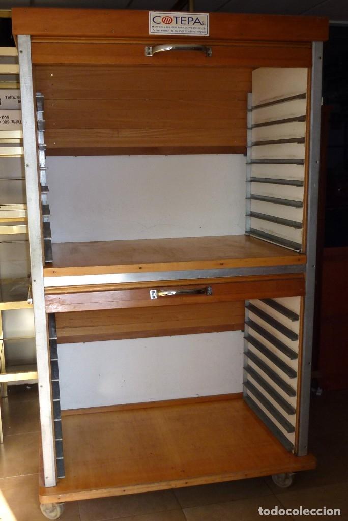 Vintage: Mueble industrial de panaderia con persiana. - Foto 5 - 178115059