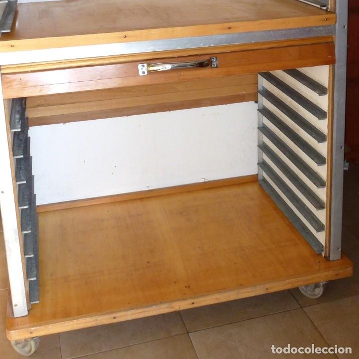Vintage: Mueble industrial de panaderia con persiana. - Foto 6 - 178115059