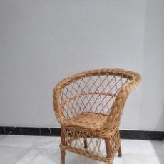 Vintage: SILLA DE MIMBRE INFANTIL. Lote 178316422