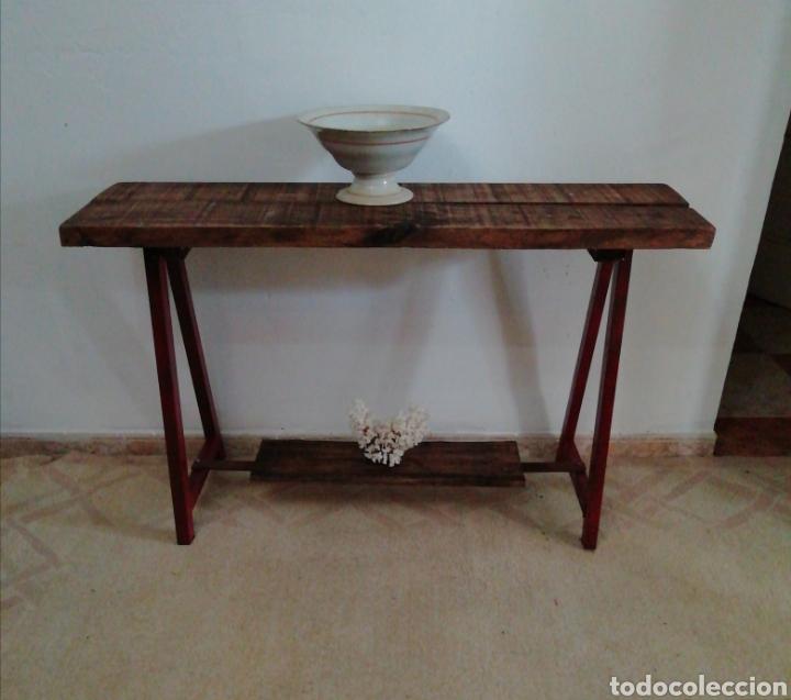 MESA RECIBIDOR INDUSTRIAL (Vintage - Muebles)