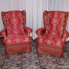 Vintage: PAREJA DE SILLONES OREJEROS,BALANCIN Y GIRATORIO.AÑOS 80.. Lote 178989295
