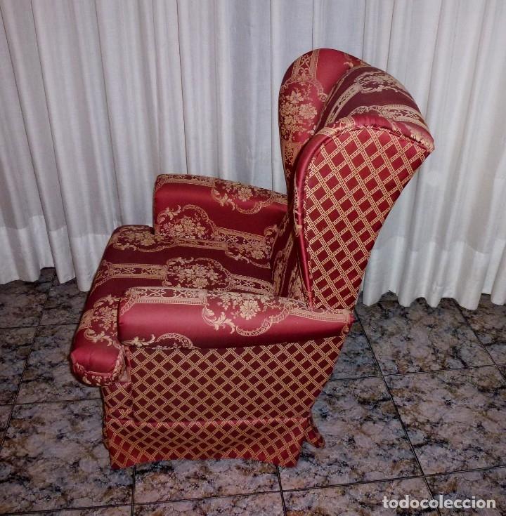 Vintage: Pareja de sillones orejeros,balancin y giratorio.Años 80. - Foto 5 - 178989295