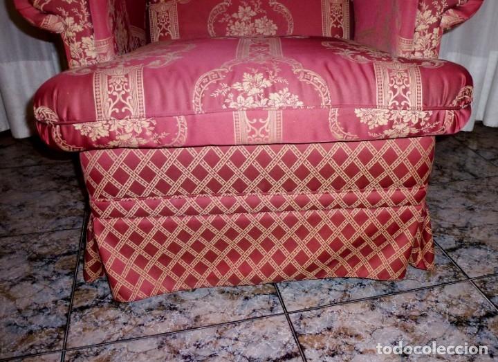 Vintage: Pareja de sillones orejeros,balancin y giratorio.Años 80. - Foto 9 - 178989295