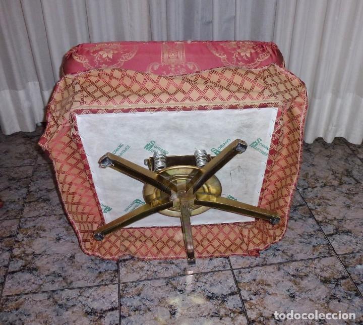 Vintage: Pareja de sillones orejeros,balancin y giratorio.Años 80. - Foto 10 - 178989295
