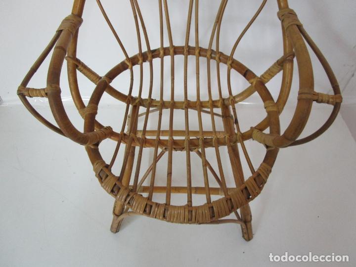 Vintage: Pequeño Sillón de Mimbre - Ideal Niño/a, Muñeca - Vintage - Foto 5 - 180082642