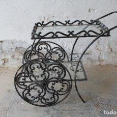 Vintage: CAMARERA RUSTICA EN HIERRO DE FORJA. Lote 180517898