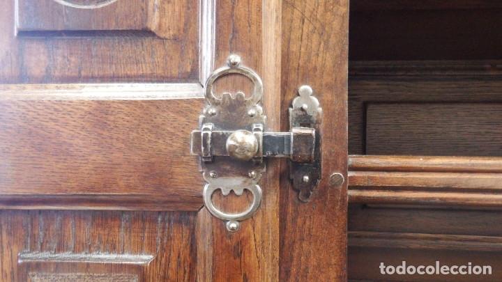 Vintage: APARADOR PLATERO ROBLE. - Foto 7 - 181494973