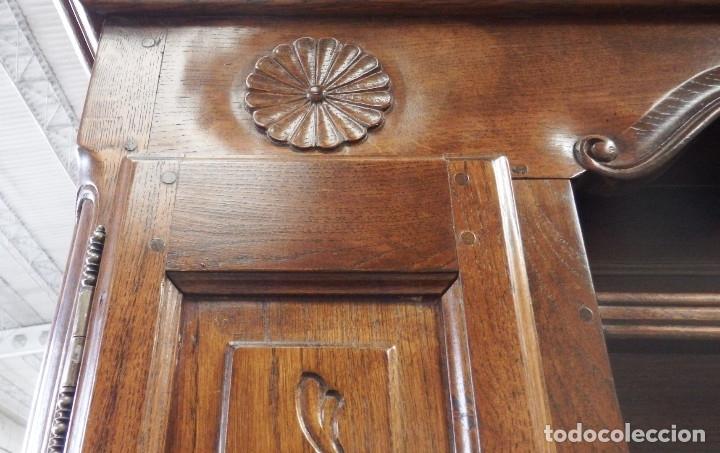 Vintage: APARADOR PLATERO ROBLE. - Foto 8 - 181494973