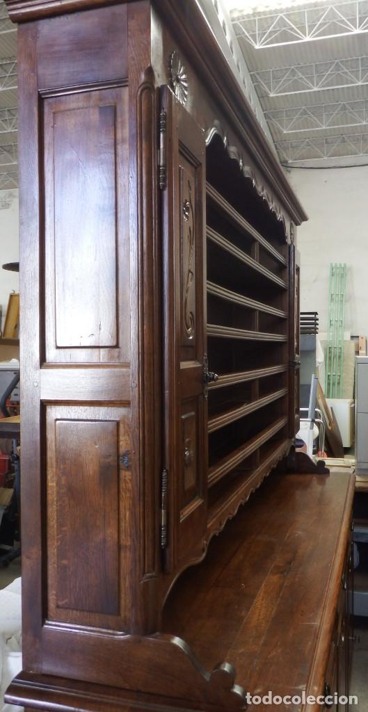 Vintage: APARADOR PLATERO ROBLE. - Foto 11 - 181494973