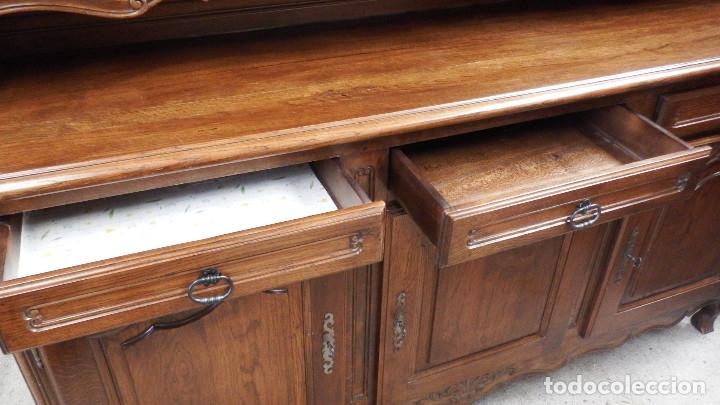 Vintage: APARADOR PLATERO ROBLE. - Foto 14 - 181494973