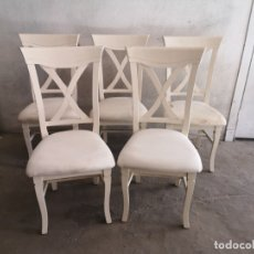Vintage: 5 SILLAS. BLANCAS . Lote 182080172