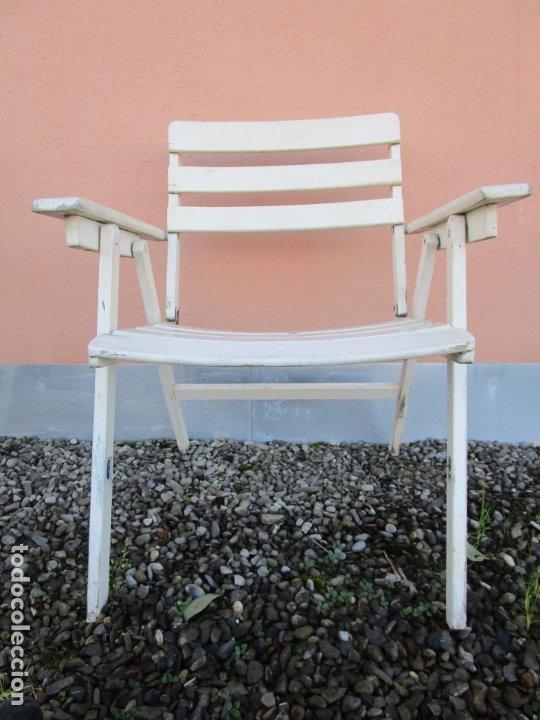 Vintage: Pareja de Sillones Plegables - Madera - Sillón jardín, Terraza, Piscina - Vintage - Años 60-70 - Foto 5 - 183017957