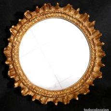 Vintage: ESPEJO SOL MADERA. 60 CM DIAMETRO. Lote 183491842
