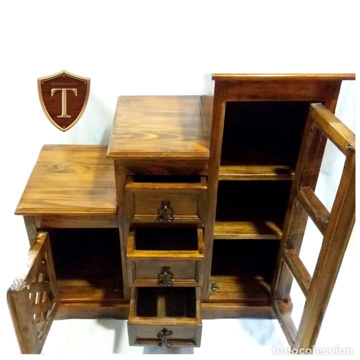 Vintage: Mueble auxiliar Mexicano de madera maciza - Foto 2 - 183956668
