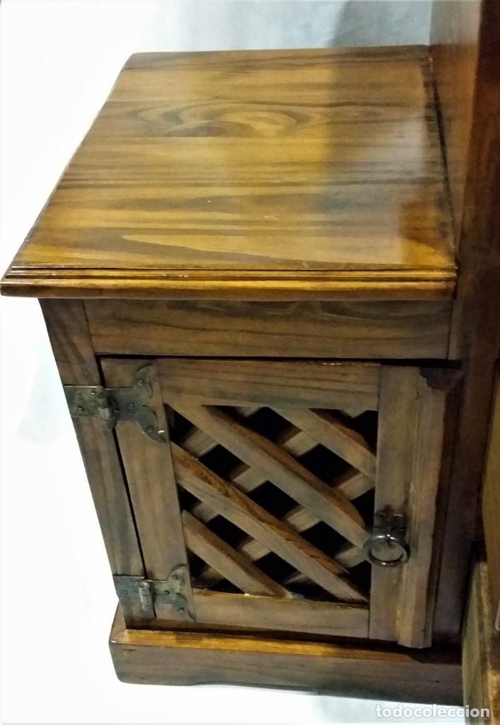 Vintage: Mueble auxiliar Mexicano de madera maciza - Foto 4 - 183956668