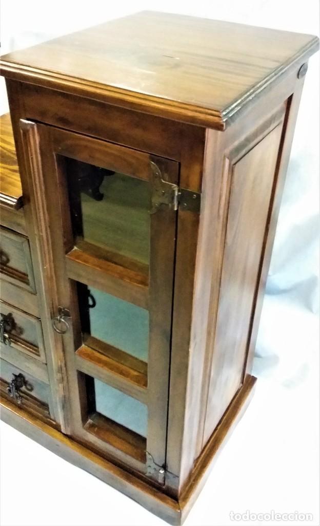 Vintage: Mueble auxiliar Mexicano de madera maciza - Foto 5 - 183956668