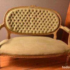 Vintage: SOFA PEQUEÑO CAPITONE. Lote 184478996