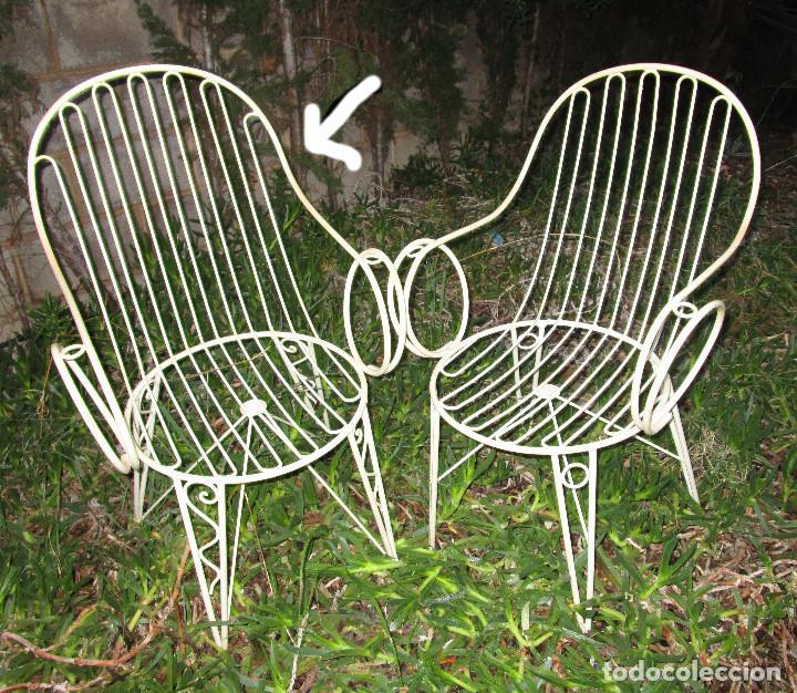 Lotazo 2 Sillas Terraza Exterior Jardin Diseño Muy Buscado Años 60 Hierro Posible 6