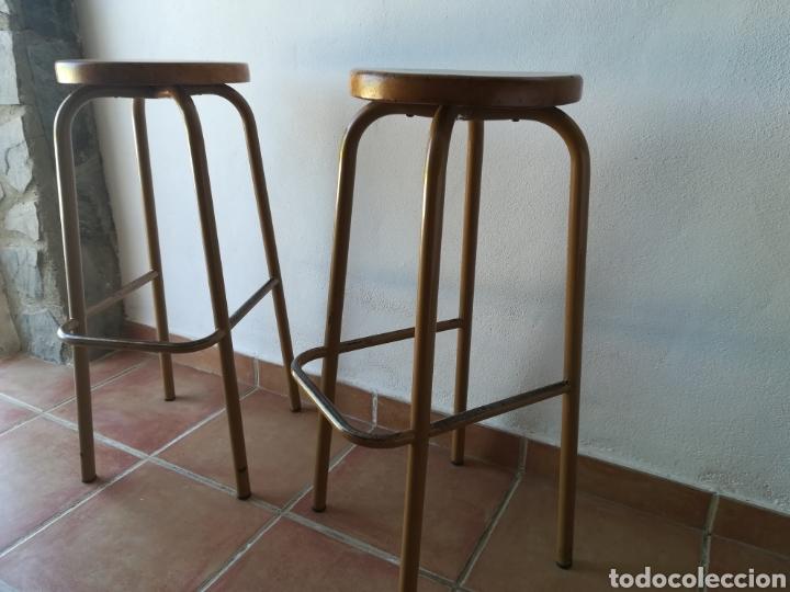 LOTE DE 2 TABURETES DE LABORATORIO VINTAGE (Vintage - Muebles)