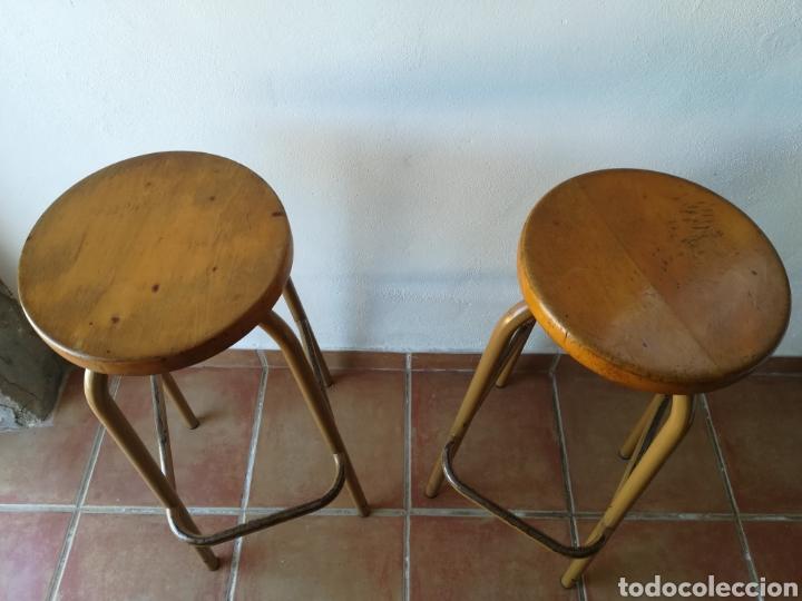 Vintage: Lote de 2 taburetes de laboratorio vintage - Foto 3 - 188797207