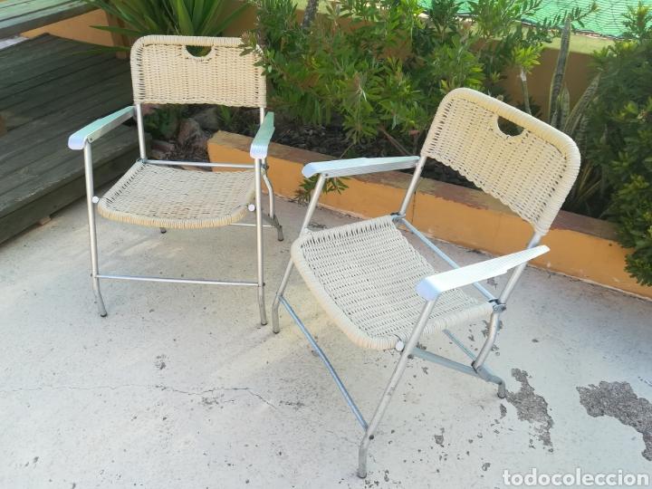 Vintage: Lote de 2 sillas plegables vintage - Foto 2 - 189289092