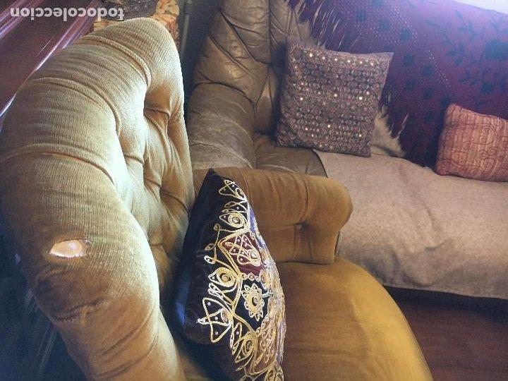 Vintage: SILLÓN capitoné antiguo. ( S. XX )- CHESTER- tapizado terciopelo- - Foto 3 - 138651026
