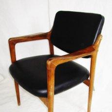 Vintage: SILLA NORDICA DIPLOMAT FINN JUHL AUTHENTIC MID CENTURY VINTAGE EAMES TEAK WOOD DANISH DENMARK CHAIR. Lote 189958123